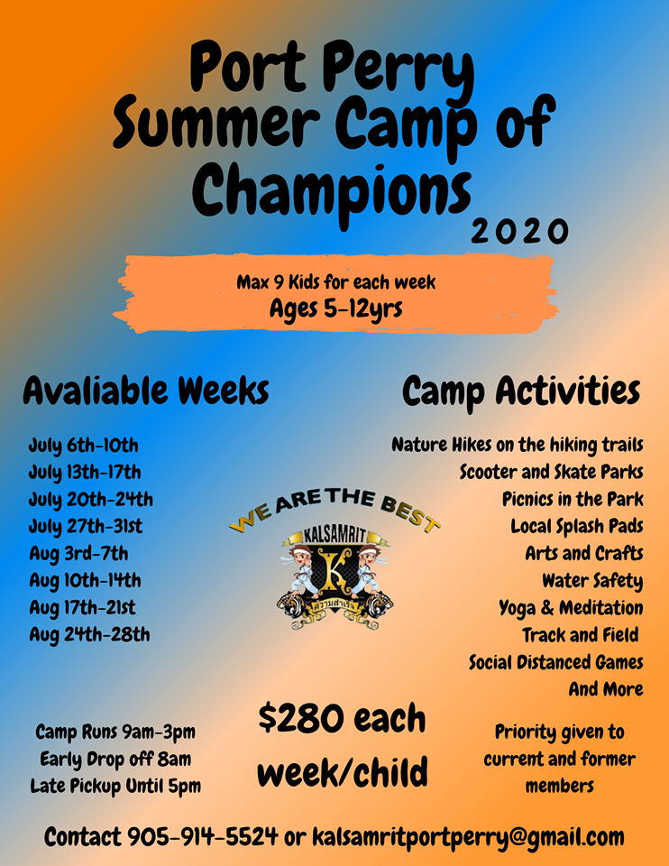 2020 Summer Camp Port Perry